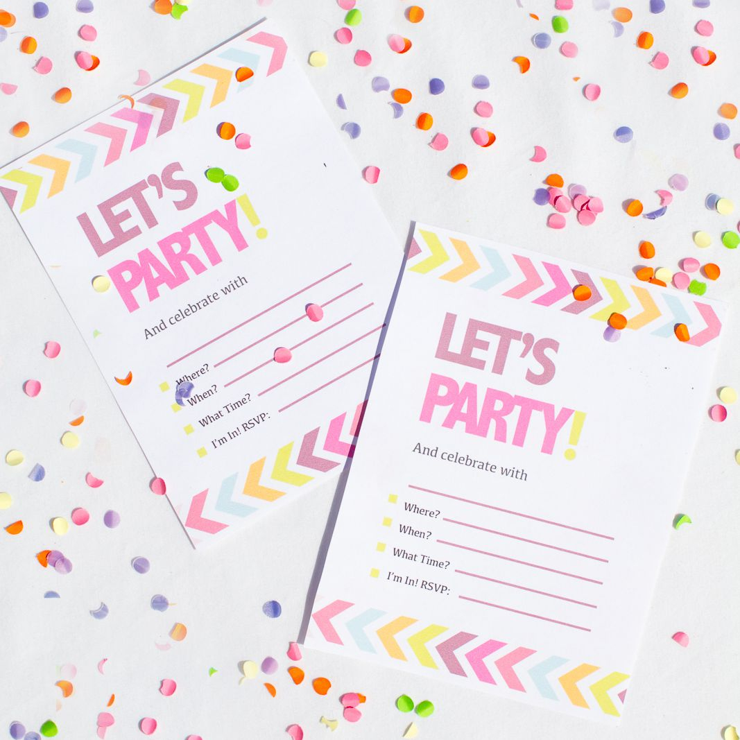 9 Free Bachelorette Party Invitation Templates - Play Date Invitations Free Printable