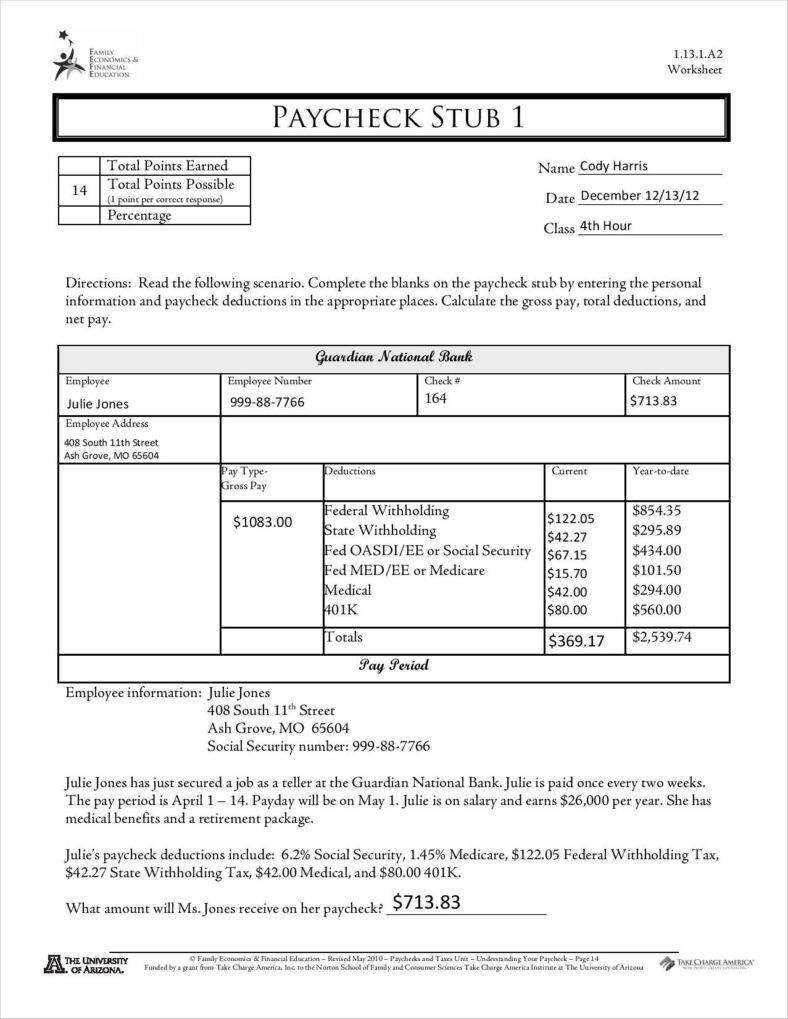 9+ Free Pay Stub Templates Word, Pdf, Excel Format Download | Free - Free Printable Check Stubs