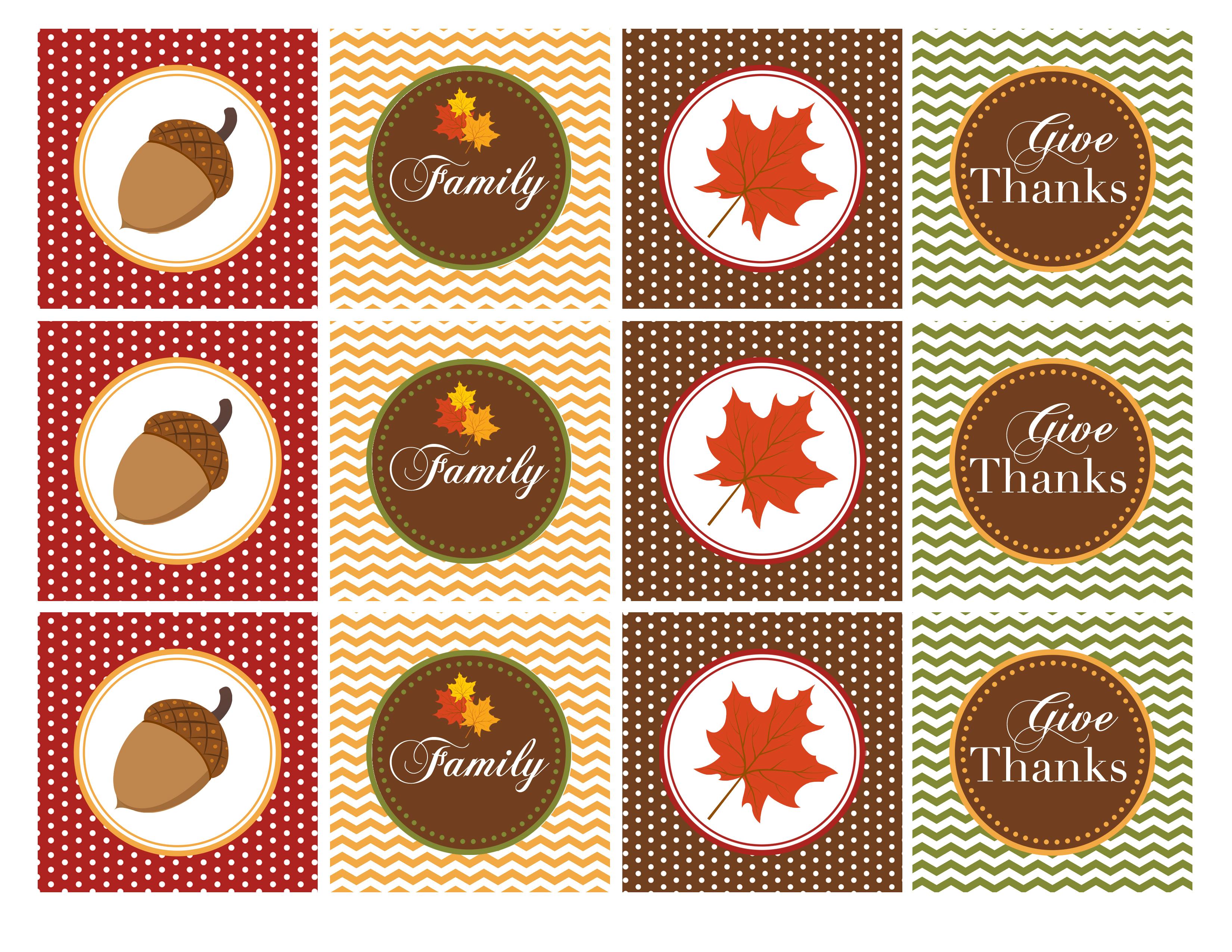 9 Turkey Cupcakes Topper Free Print Photo - Free Thanksgiving - Thanksgiving Cupcake Toppers Printable Free
