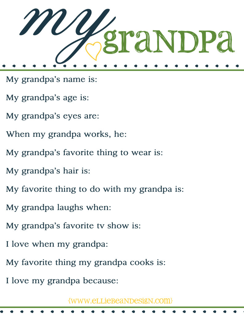 96+ Fun Facts About Grandpa Grandparent Family Gifts Fathers Day - Free Printable Fathers Day Poems For Preschoolers