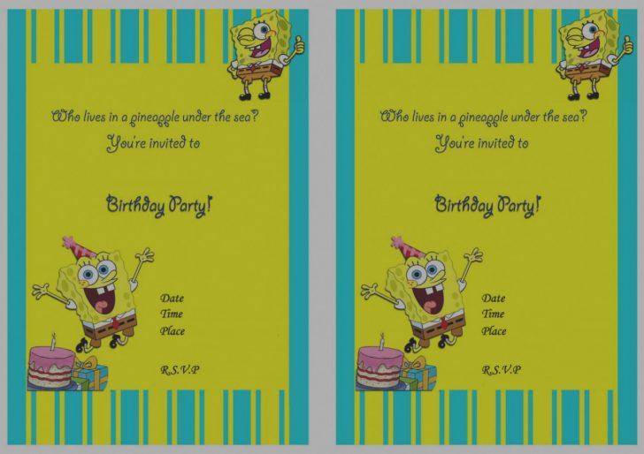 Spongebob Free Printable Invitations