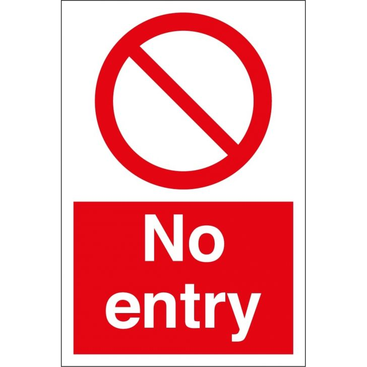 Free Printable No Entry Sign