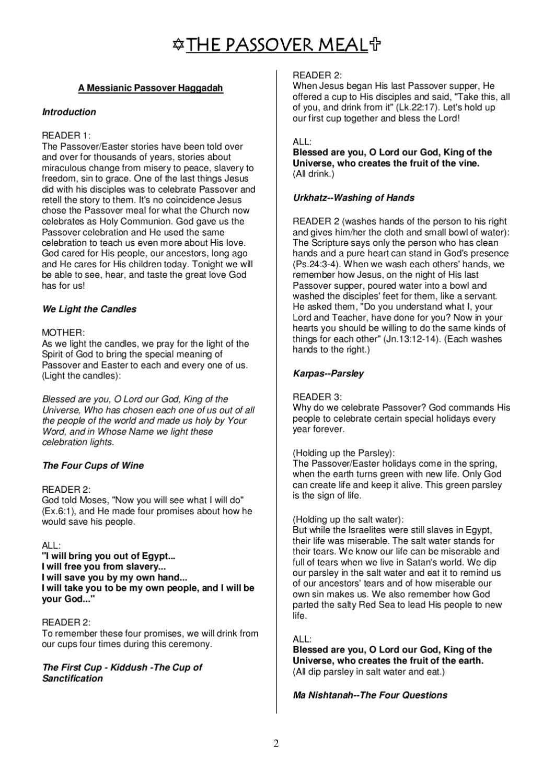 A Christian Passover Haggadah   Bible Study   Pinterest   Bible - Free Printable Messianic Haggadah