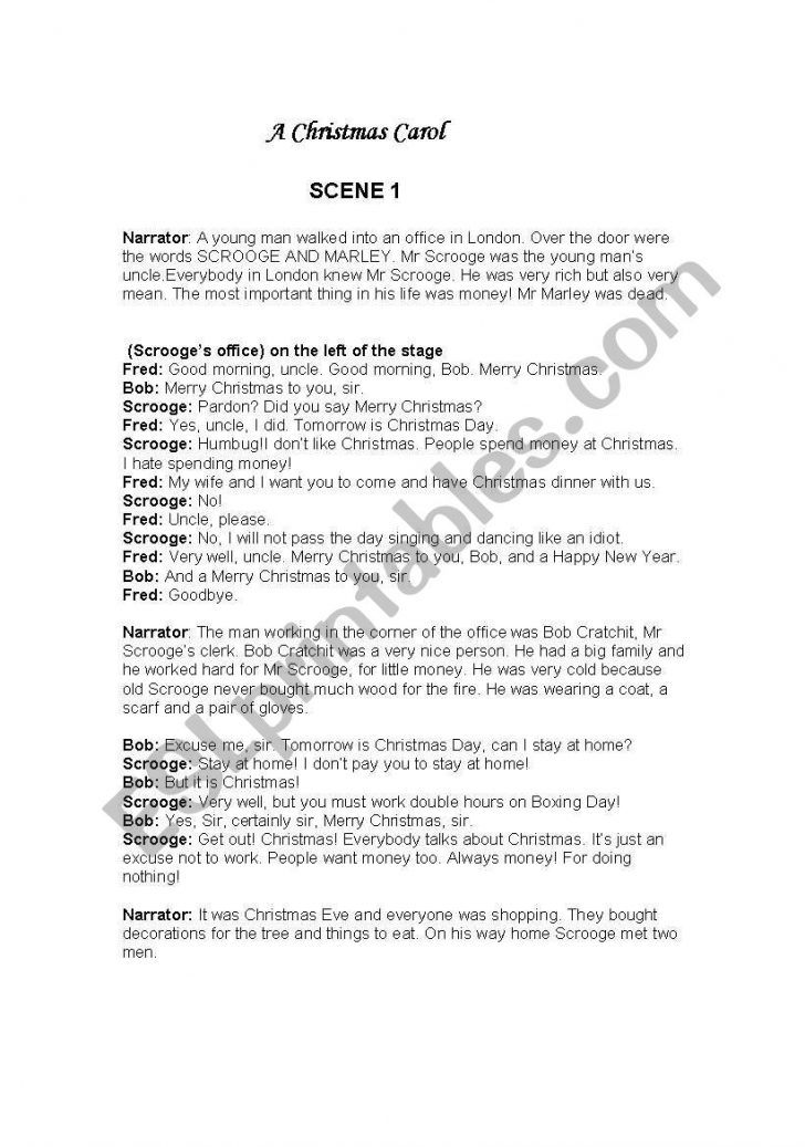 Free Printable Play Scripts