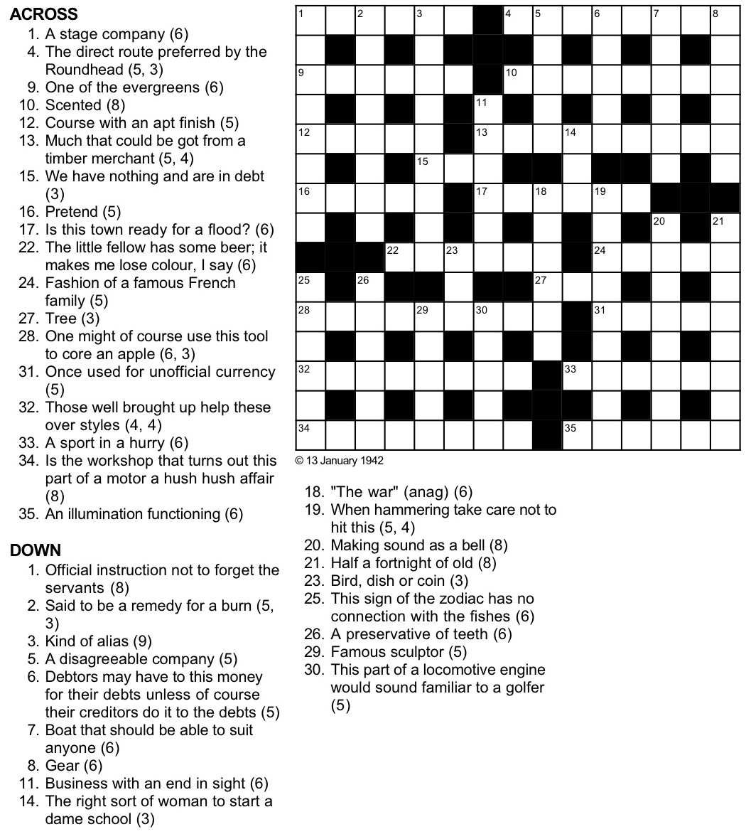 A Cryptic Tribulation Turing Test Crossword Puzzle - Printable Newspaper Crossword Puzzles For Free