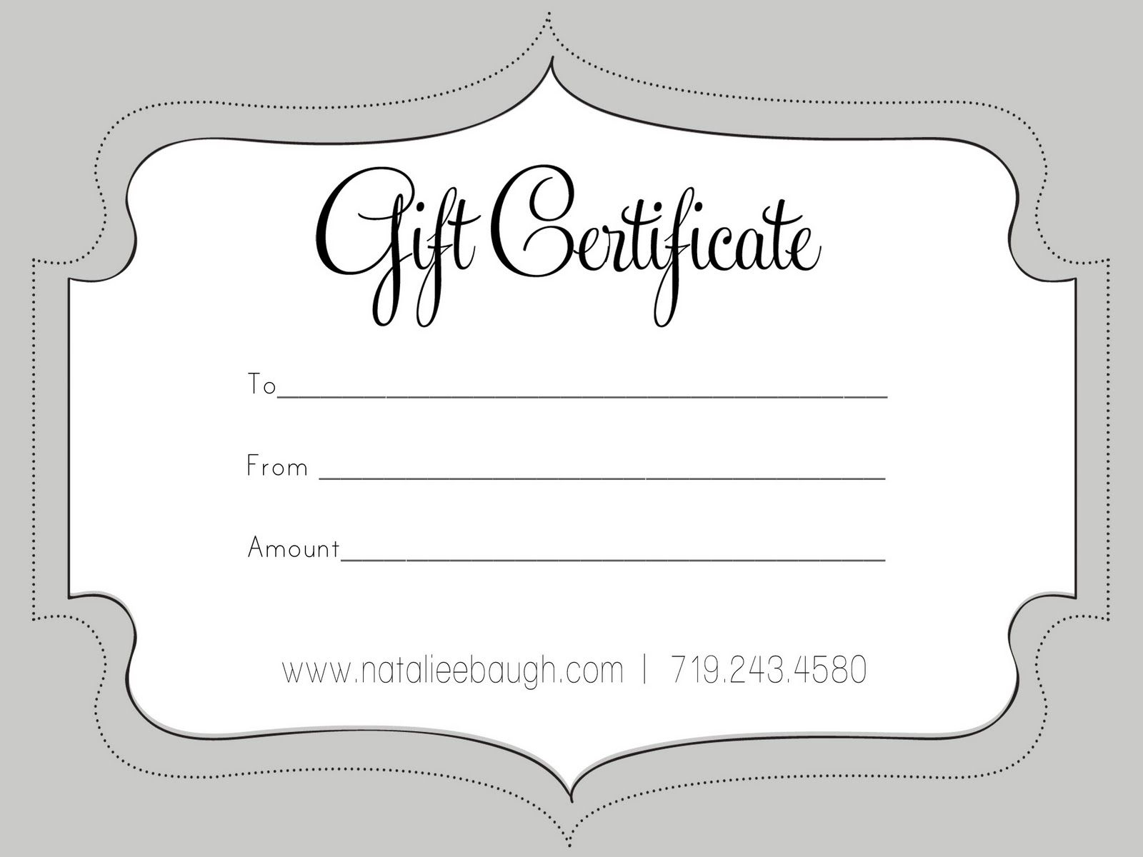 A Cute Looking Gift Certificate | S P A | Pinterest | Gift - Free Printable Gift Certificates For Hair Salon