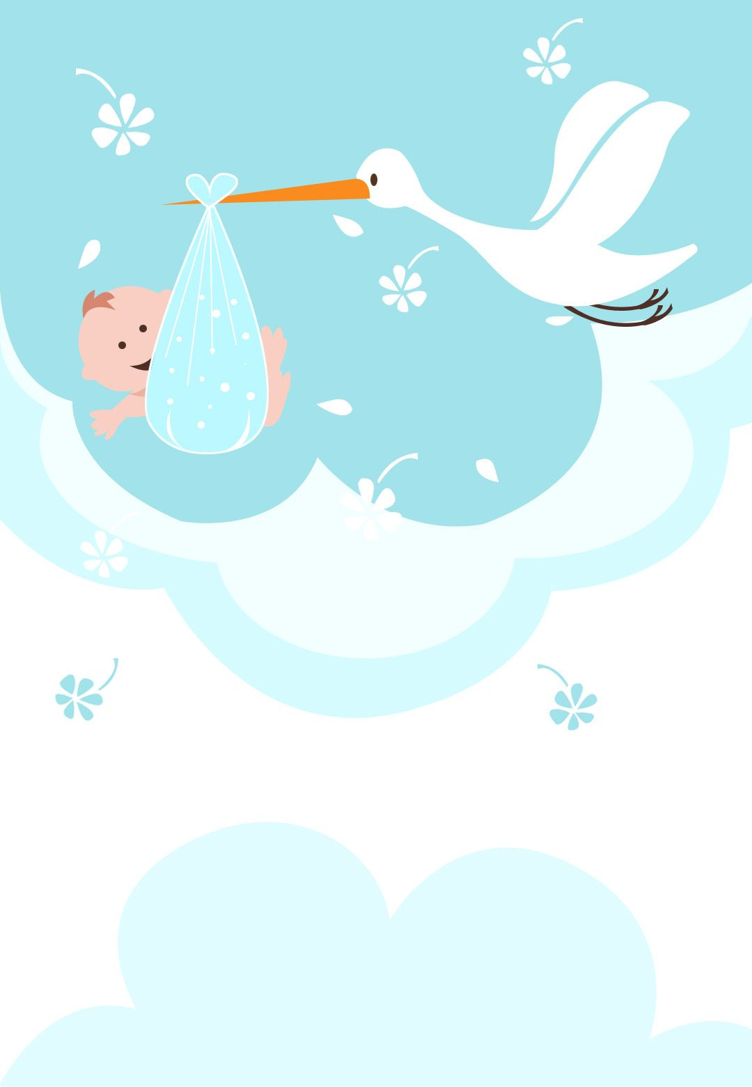 A Delivery Is Coming - Free Printable Baby Shower Invitation - Free Stork Party Invitations Printable