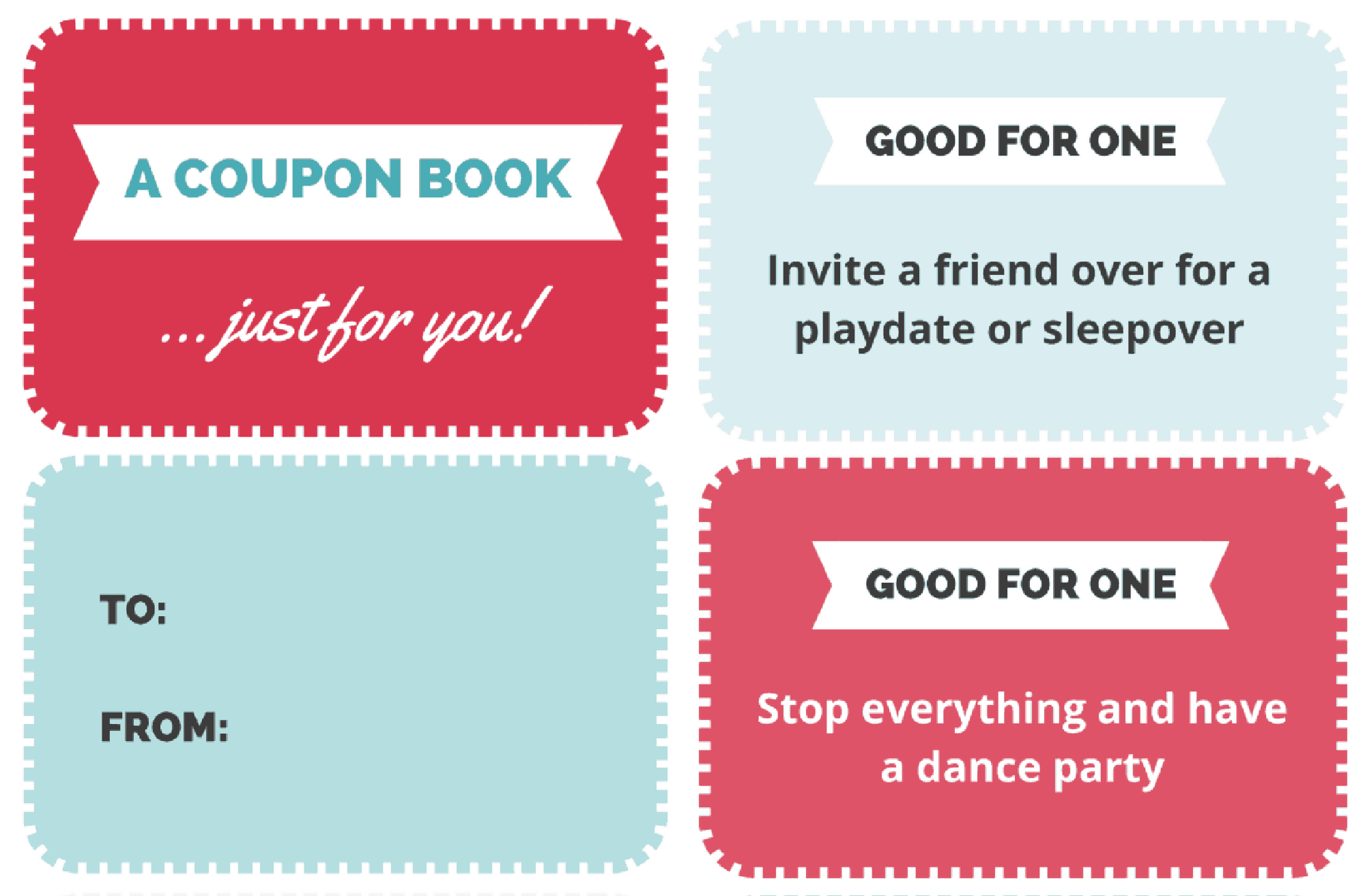 A Free Printable Coupon Book For Kids That Makes The Best Gift - Free Printable Homemade Coupon Book