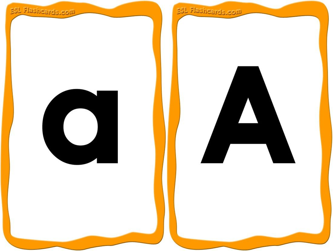 A Great Set Of Upper And Lowercase Alphabet Cards From A - Z. Small - Free Printable Lower Case Letters Flashcards