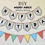 A Mickey And Minnie Mouse Party – Free Printable Happy Birthday   Free Printable Mickey Mouse Birthday Banner