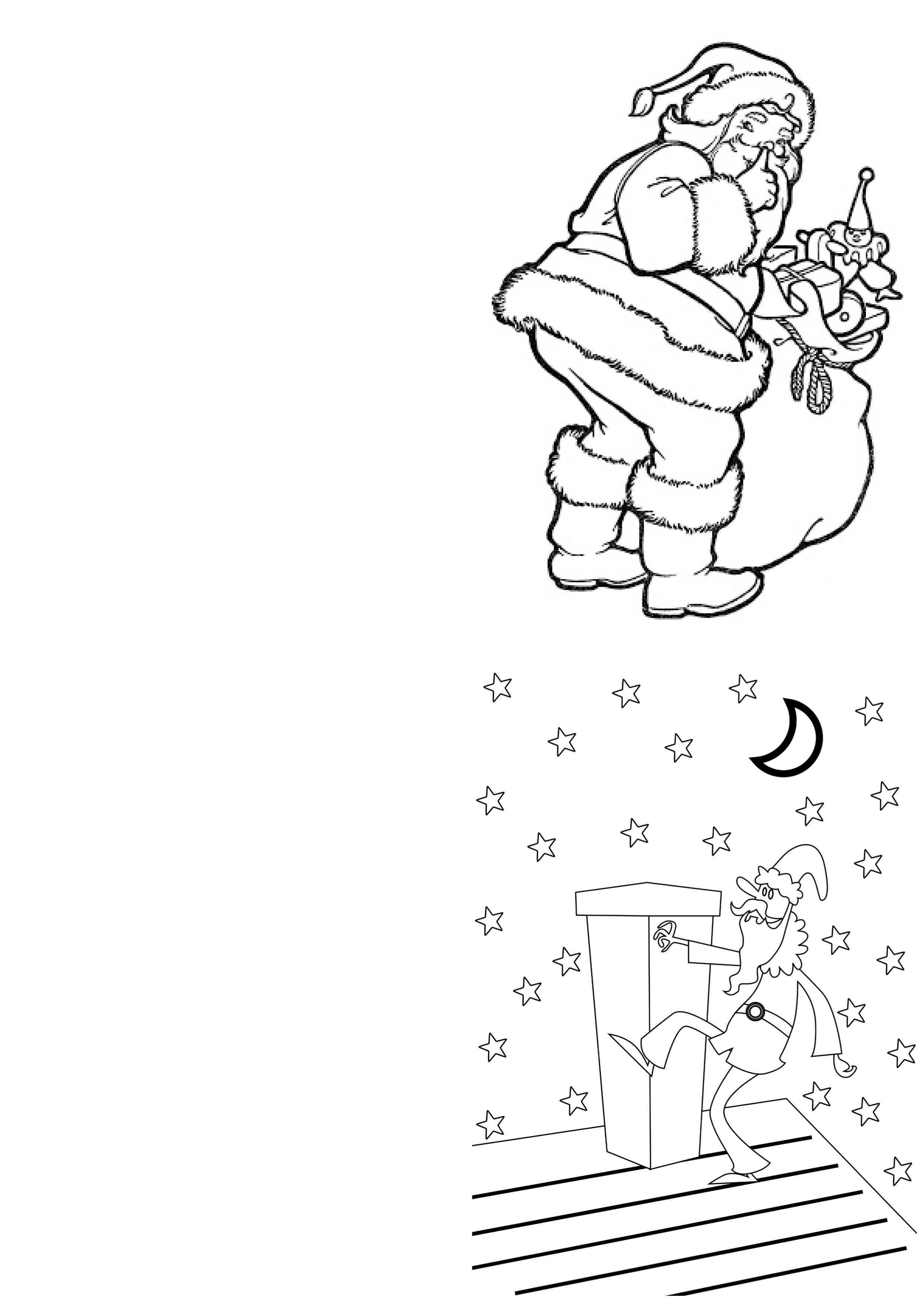 A Range Of Free Printable Christmas Cards Designs For Children To - Free Printable Christmas Cards To Color