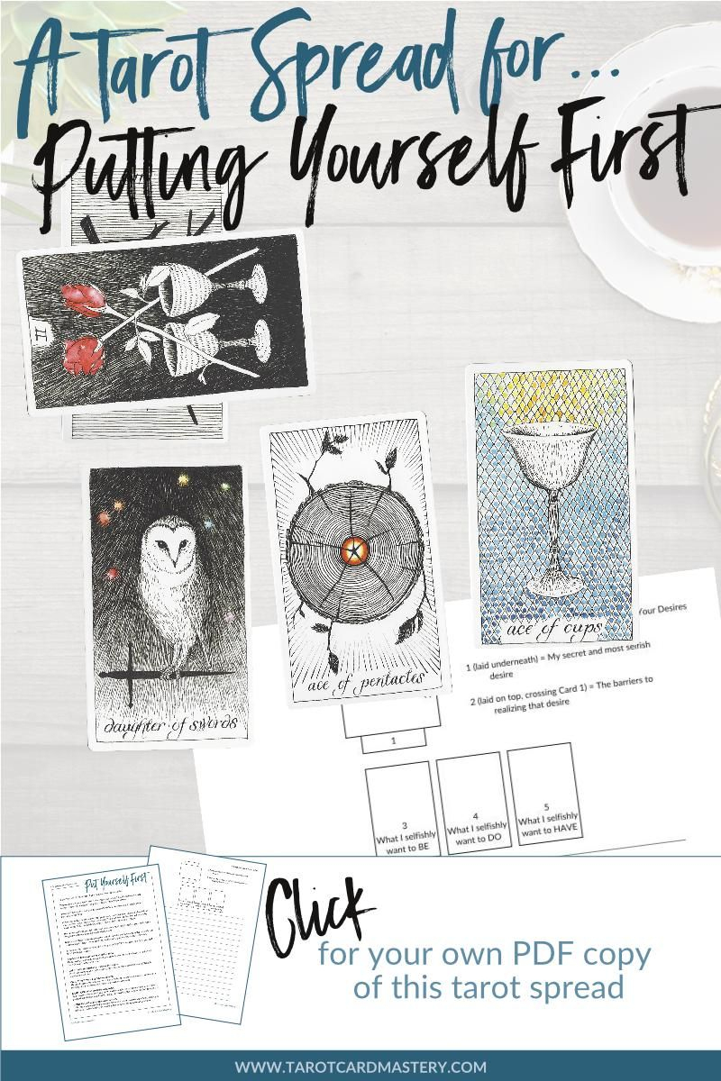 A Tarot Spread For Putting Yourself First | Printable Tarot Spreads - Printable Tarot Cards Pdf Free