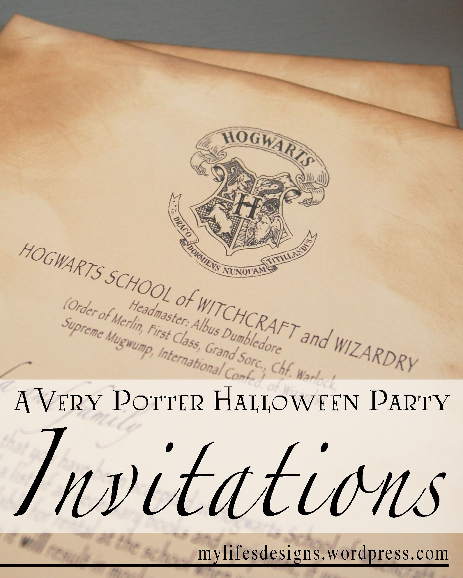 A Very Potter Halloween Party: Invitations | Diy Projects I Might - Harry Potter Birthday Invitations Free Printable