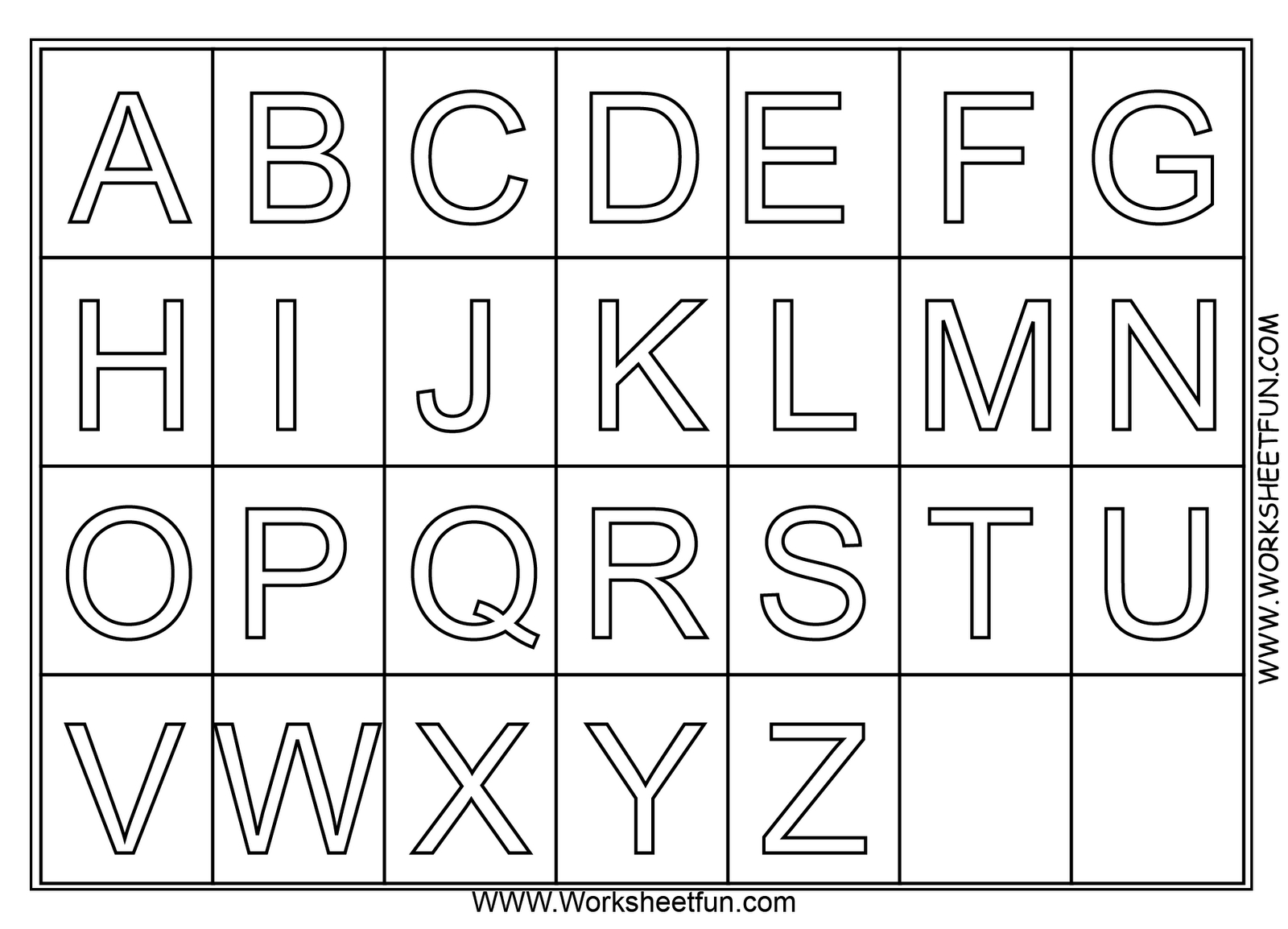 A Z Alphabet Coloring Pages Download And Print For Free | Pre K - Printable Alphabet Letters Free Download