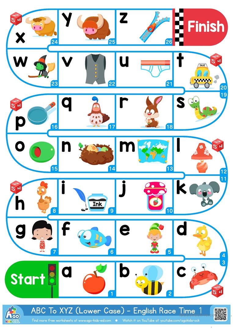 Free Printable Alphabet Board Games | Free Printable Download