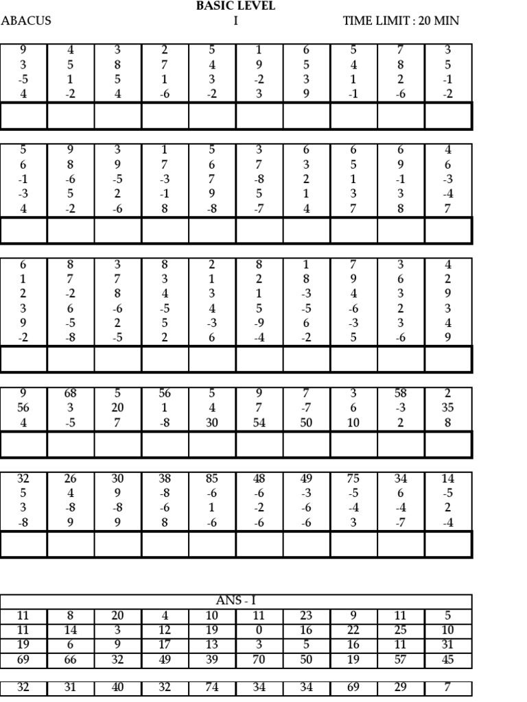 Abacus Worksheet For Level 3 | Free Printables Worksheet - Free Printable Abacus Worksheets