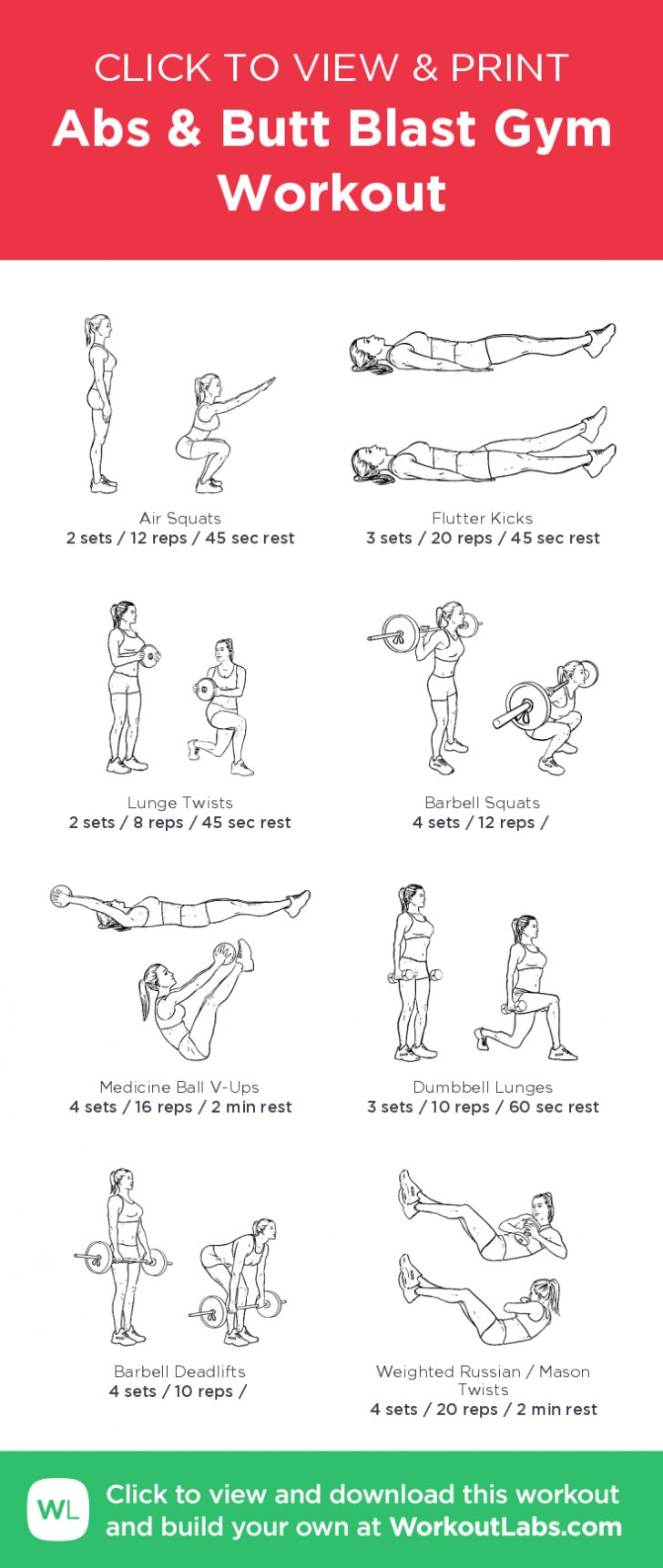 Free Printable Gym Workout Plans