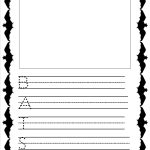 Acrostic Poem Forms, Templates, And Worksheets   Free Printable Bat Writing Paper