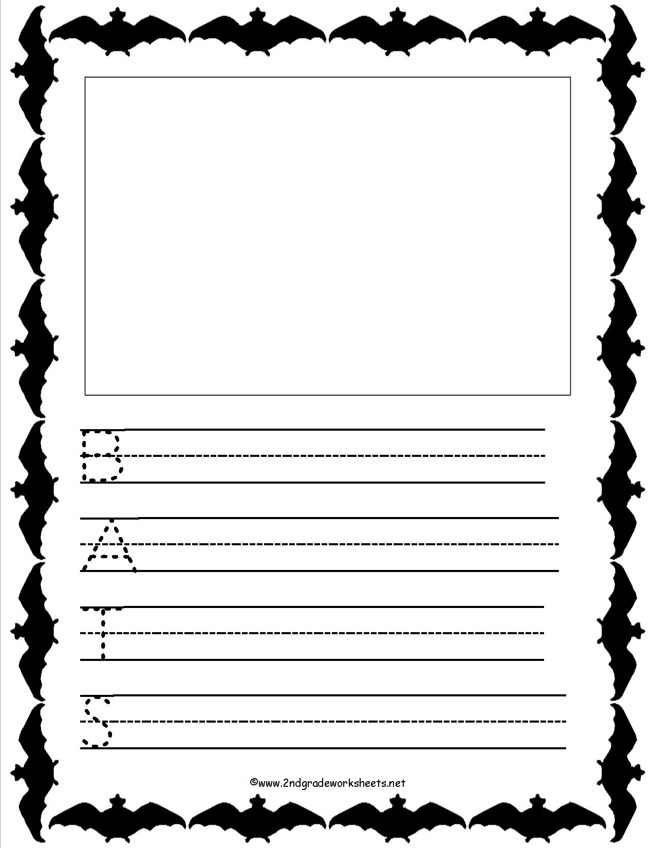 Acrostic Poem Forms, Templates, And Worksheets - Free Printable Bat Writing Paper