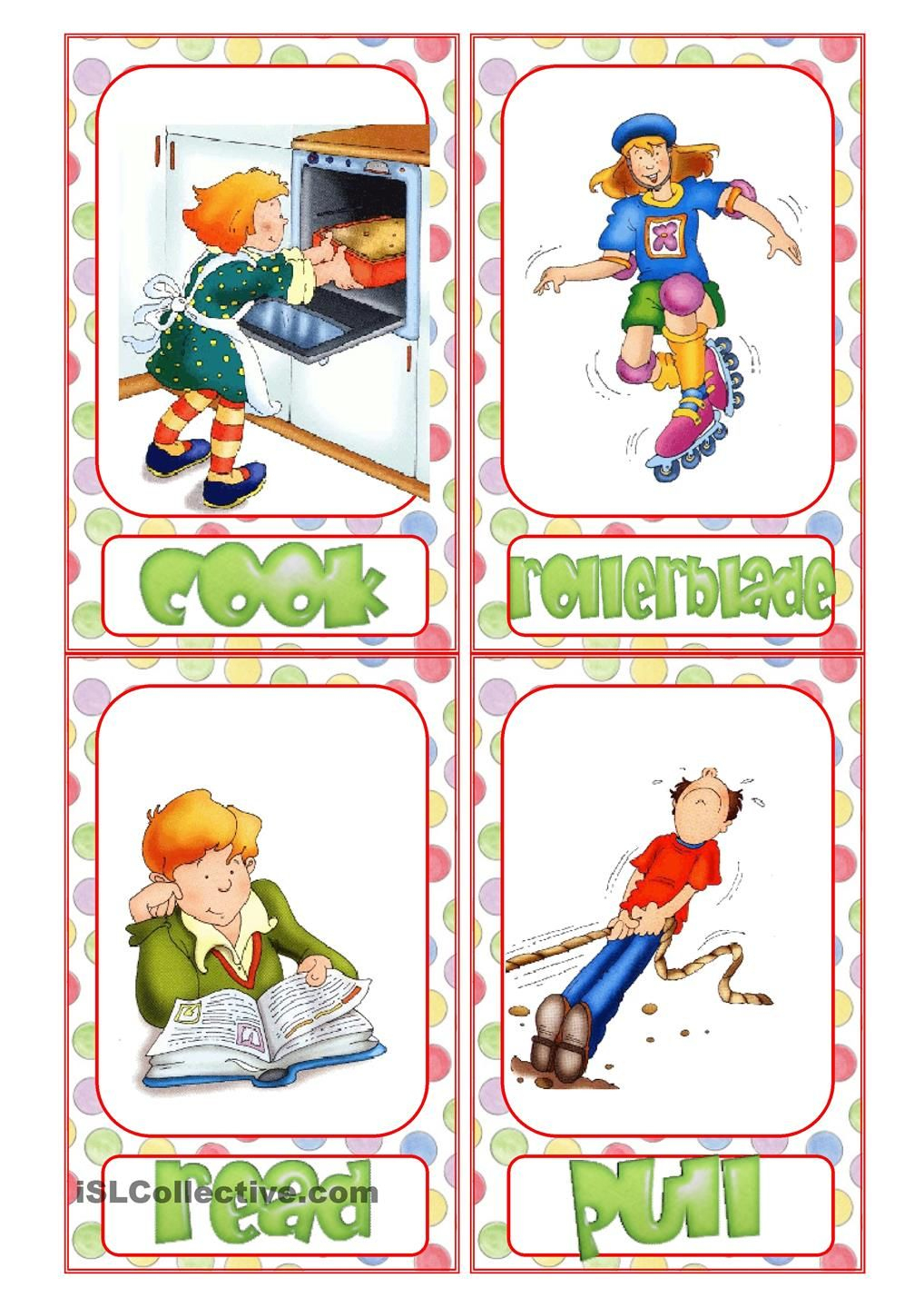Action Verb Flashcards | Reading & Writing | Pinterest | Action - Free Printable Spanish Verb Flashcards