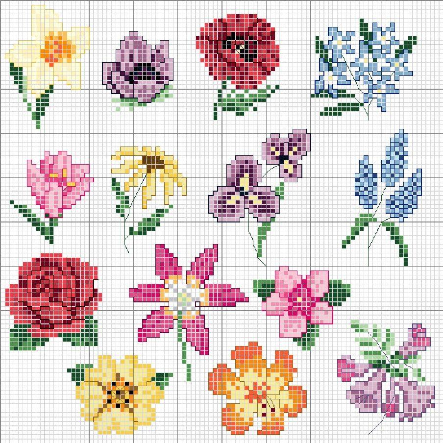 Acul De Platină-Modele De O Noaptegreat Collection Of Flowers - Free Printable Cross Stitch Patterns Flowers