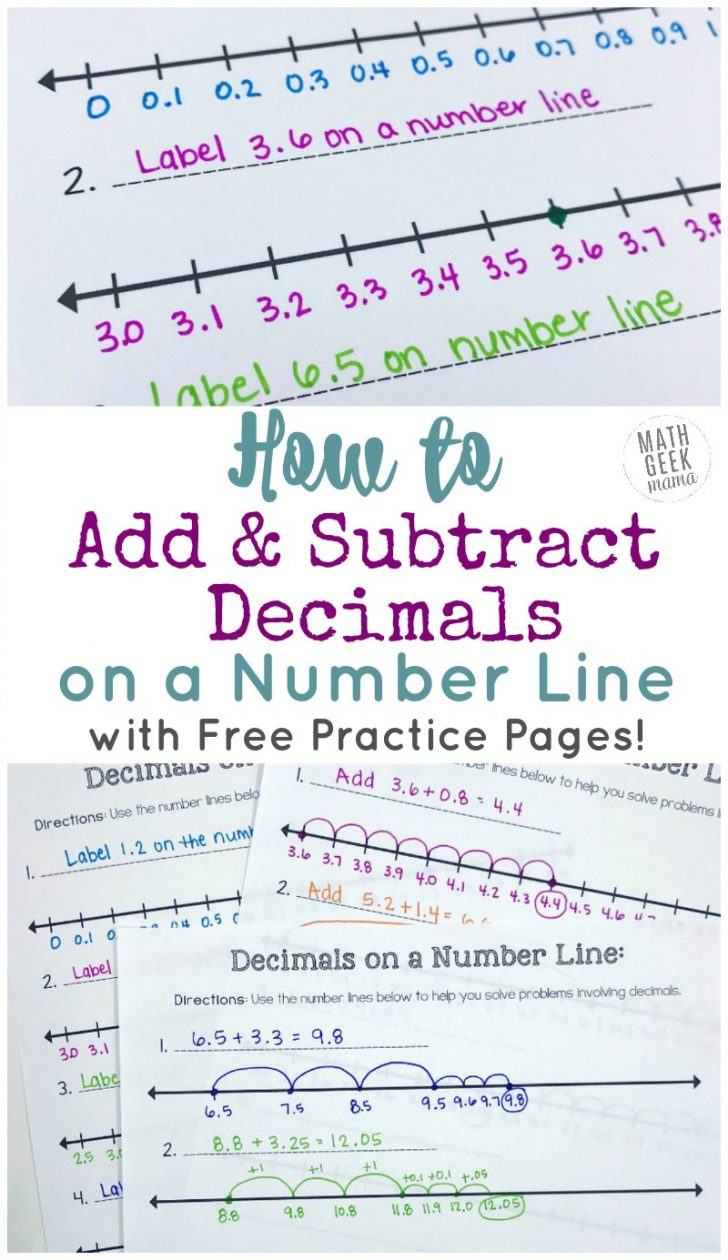 Free Printable Number Line For Kids