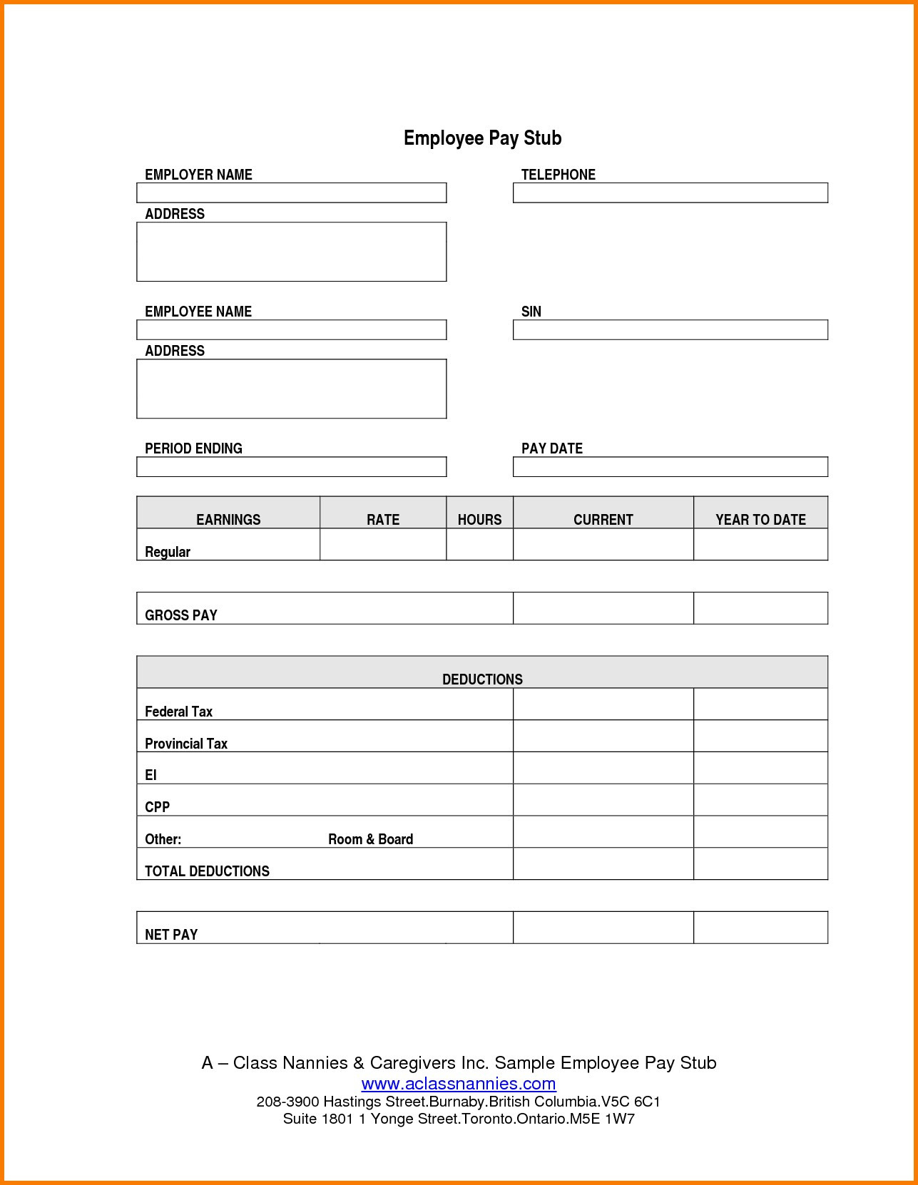 Adp Paystub Template Payroll Sheet Editable Free Printable Check - Free Printable Check Stubs