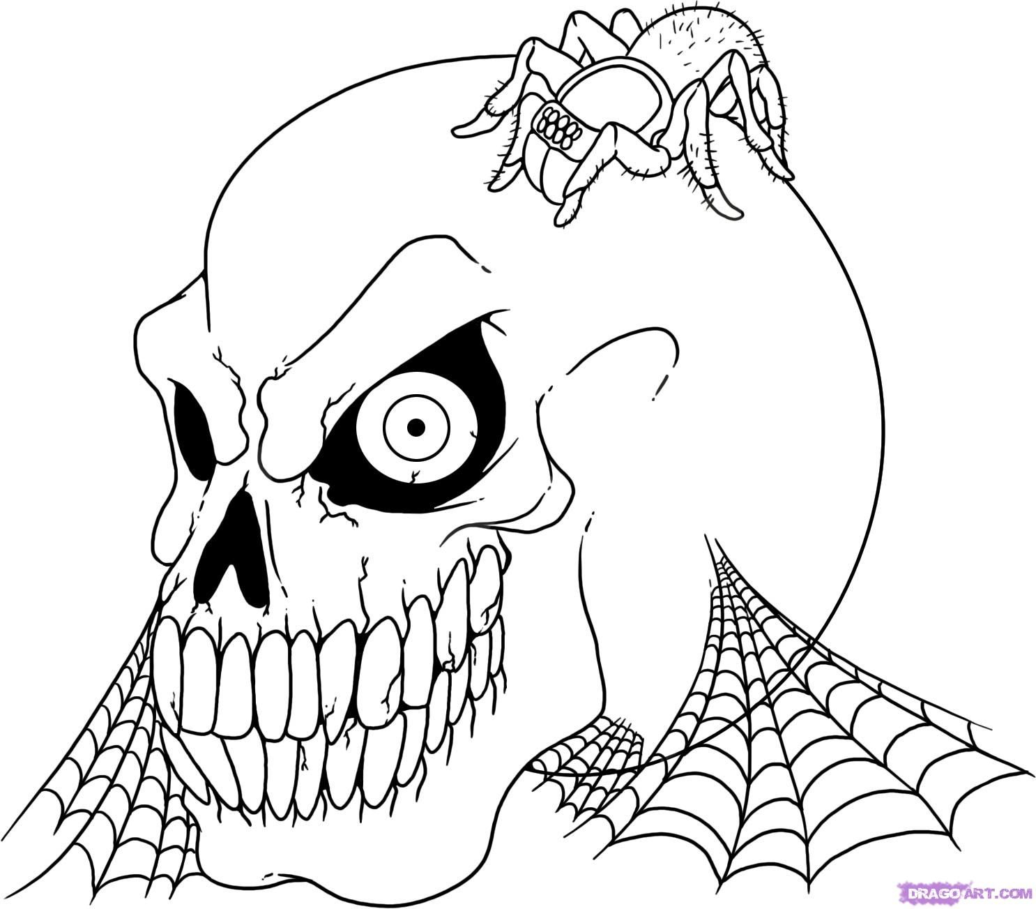 Adult Vampire Coloring Pages | Halloween Coloring Pages: Halloween - Free Printable Skeleton Coloring Pages