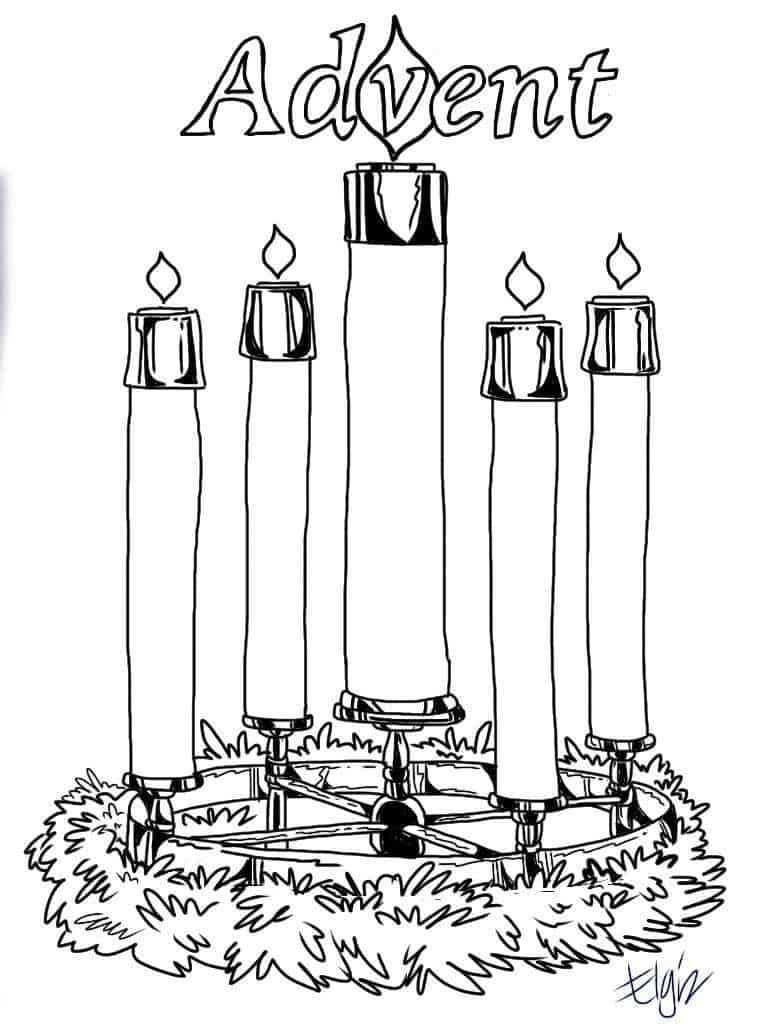 Advent Candles Coloring Pages - Free Printable Advent Wreath