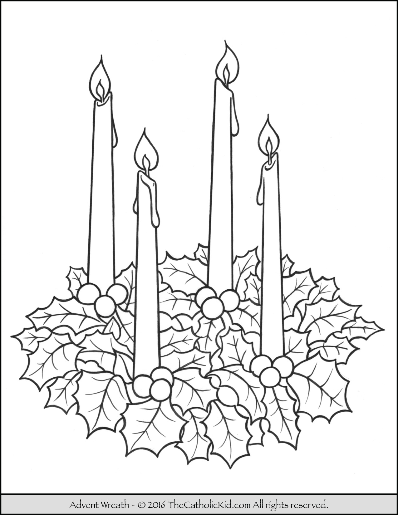 Advent Wreath Coloring Page - - Free Printable Advent Wreath