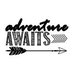 Adventure Awaitsfree Printable Art Print | Silhouette | Free   Free Printable Quote Stencils