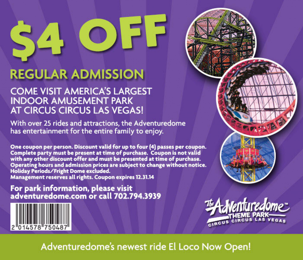 Adventuredome-Coupon - Just Vegas Deals Intended For Free Printable - Free Printable Las Vegas Coupons 2014