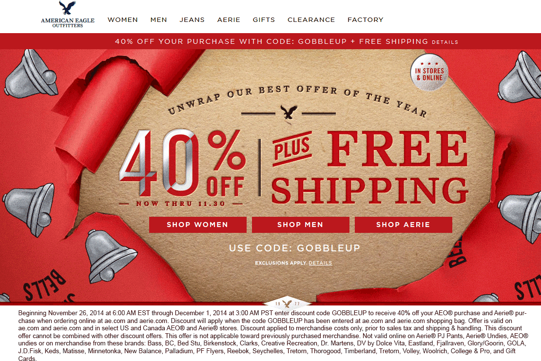 Aerie Coupons Codes 2018 / Chase Coupon 125 Dollars - Free Printable American Eagle Coupons