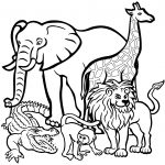 African Animals Coloring Page | Free Printable Coloring Pages   Free Printable Animal Coloring Pages