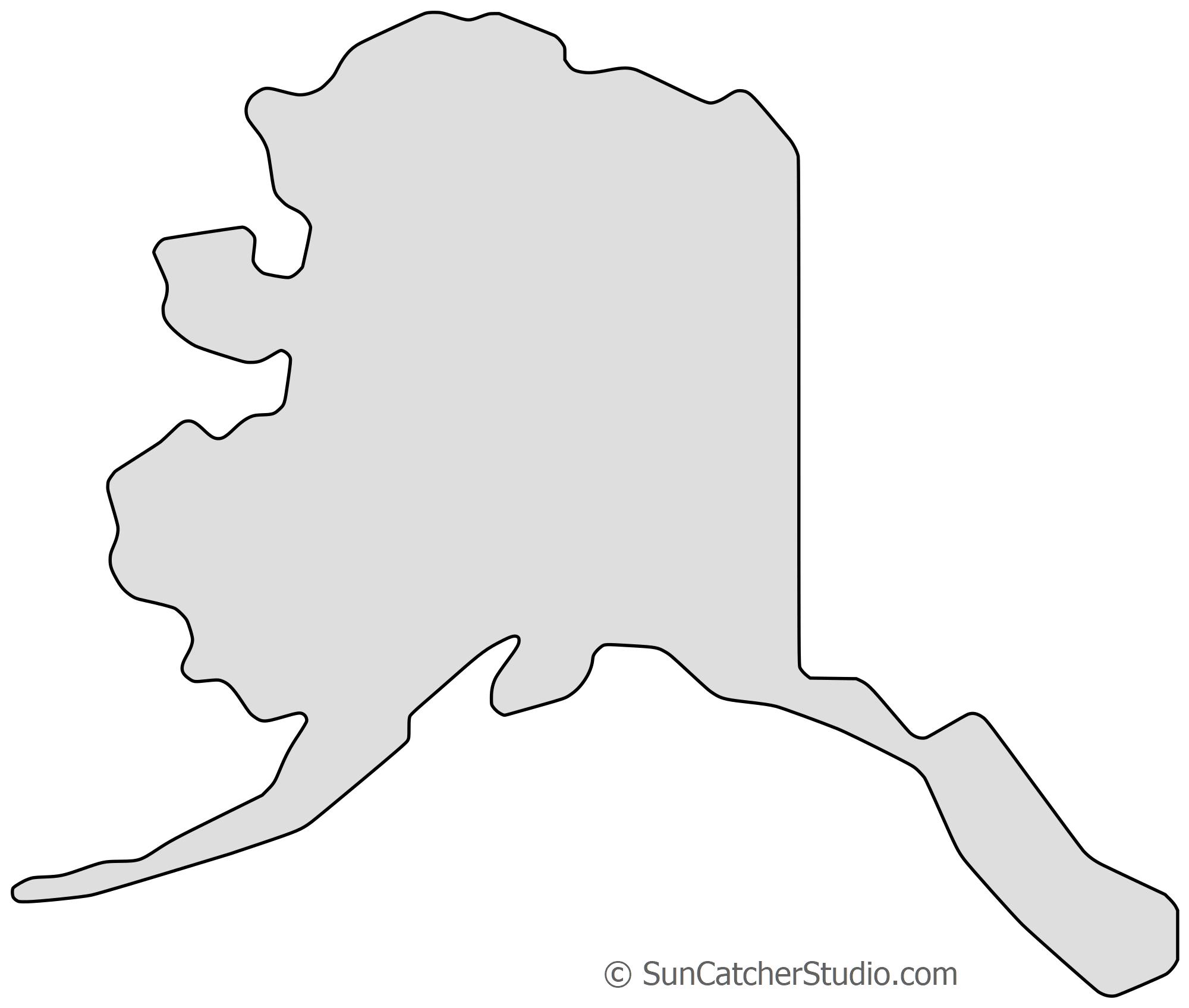 Alaska - Map Outline, Printable State, Shape, Stencil, Pattern - Free Printable Pictures Of Alaska