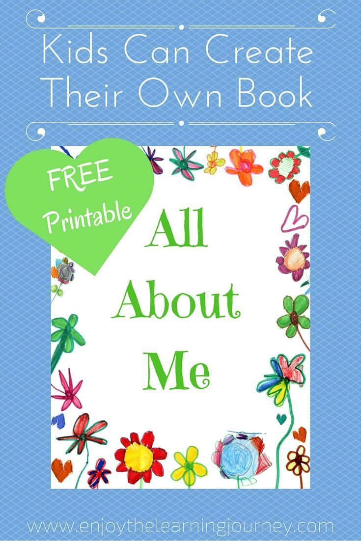 All About Me Book With Free Printable   Homeschooling   Pinterest - Free Printable Story Books For Kindergarten