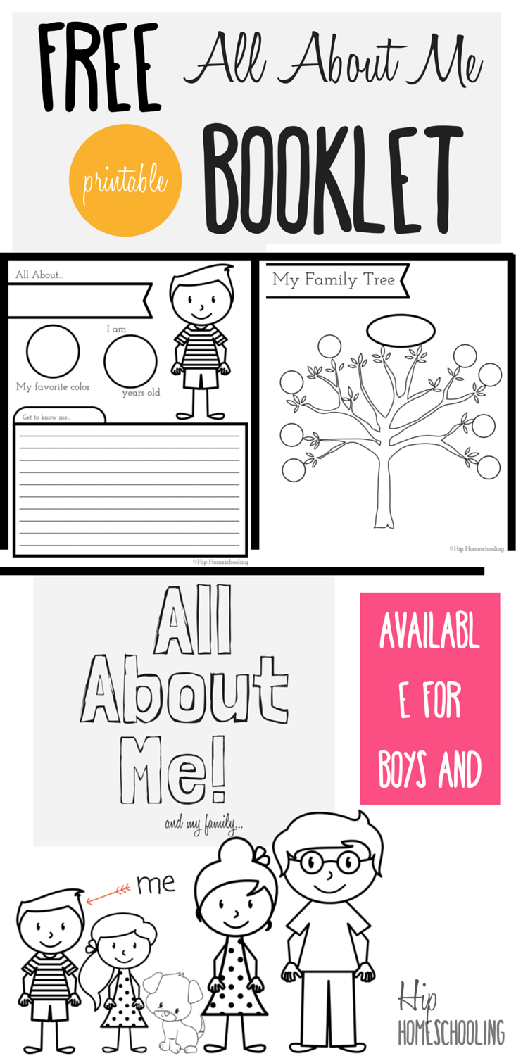 All About Me Worksheet: A Printable Book For Elementary Kids - Free Printable Level H Books