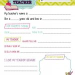 All About My Teacher Free Printable 253294E45795656Bb1518D61B13Bbecf   All About My Teacher Free Printable