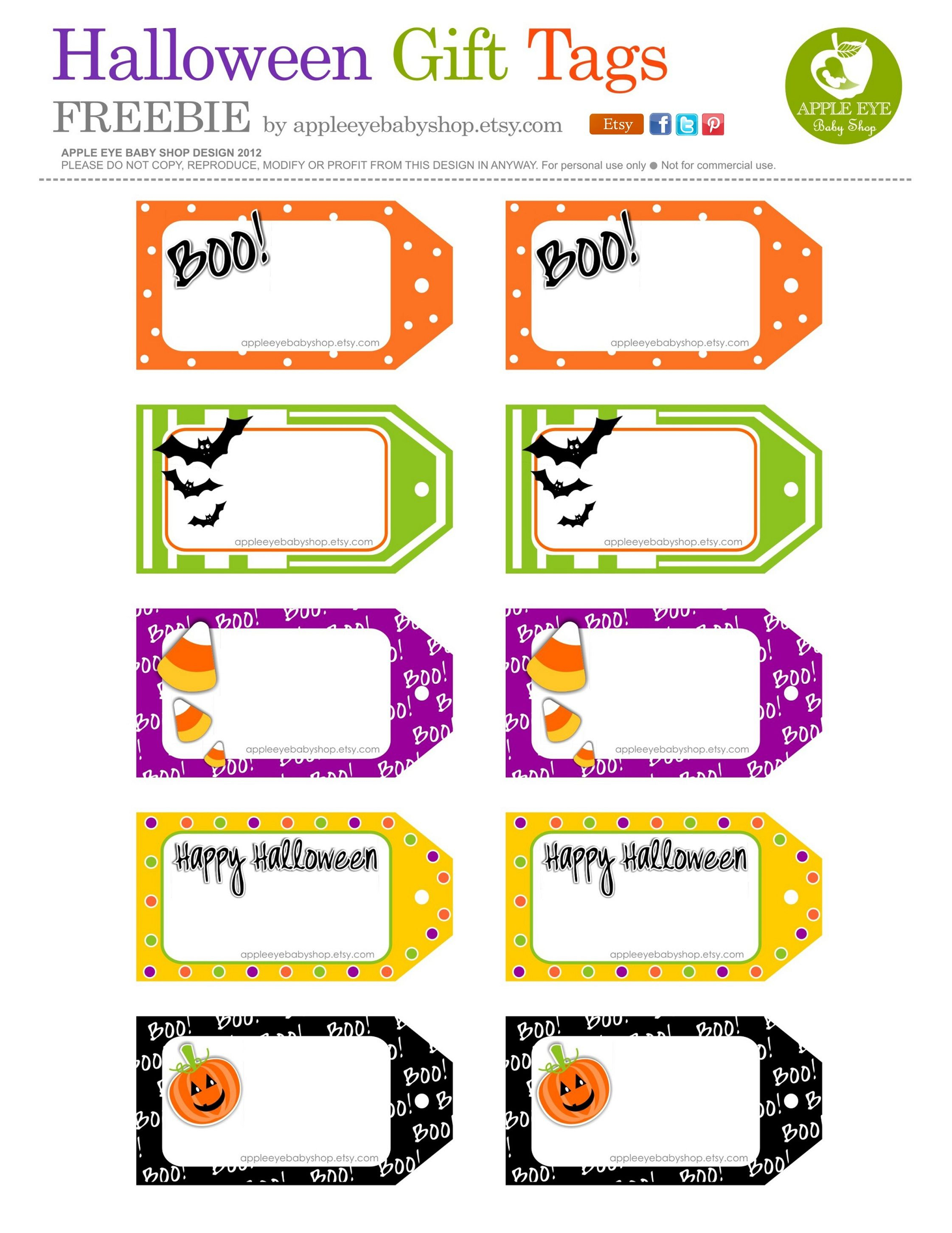 All Sizes | Free Printable | Halloween Gift Tagsapple Eye Baby - Free Printable Halloween Tags
