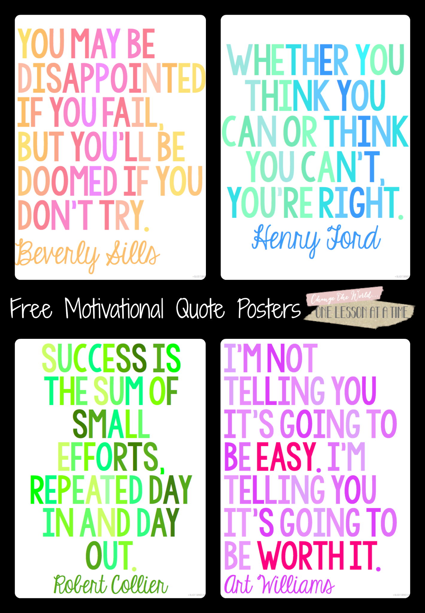 All Things Upper Elementary: Motivational Quotes For State Testing - Free Printable Testing Signs