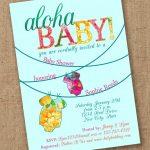 Aloha Baby Shower Invitation Luau Etsy Invitations 8 | Wadatlanta   Free Printable Luau Baby Shower Invitations
