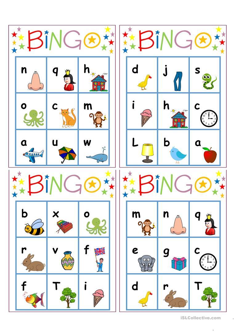 Alphabet Bingo Worksheet - Free Esl Printable Worksheets Made - Free Printable Alphabet Bingo Cards