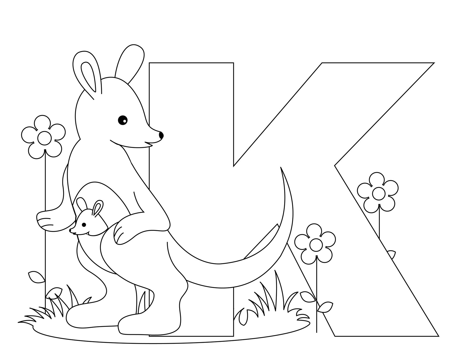Alphabet Coloring Pages Preschool – With Kindergarten Also Childrens - Free Printable Alphabet Letters Coloring Pages