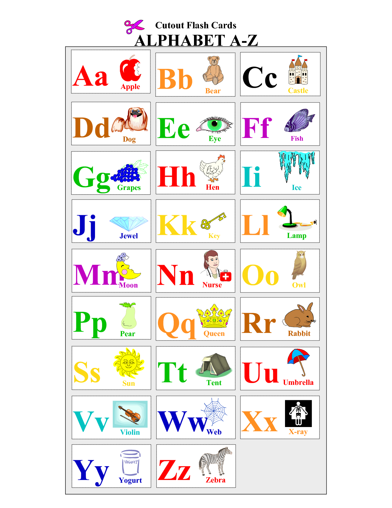 image about Free Printable Abc Flashcards named Alphabet-Flash-Playing cards-Toward-Print - Coloring Internet pages For Older people