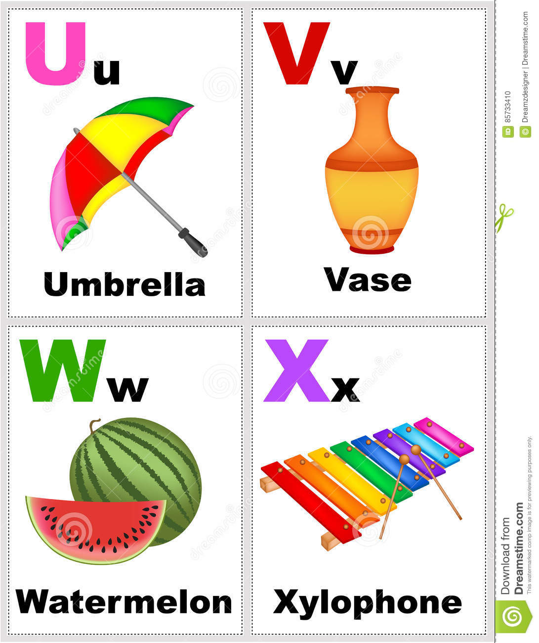 Alphabet Flashcards Stock Illustration. Illustration Of Poster - Free Printable Alphabet Flash Cards