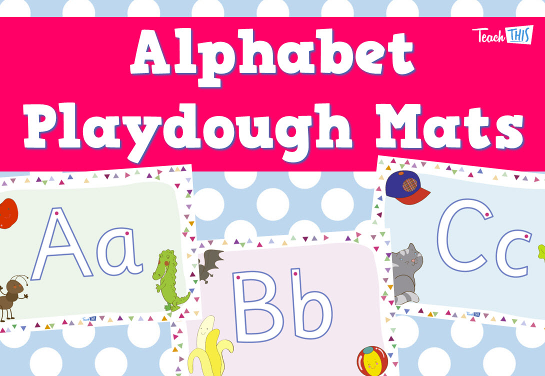 Alphabet Playdough Mats :: Teacher Resources And Classroom Games - Alphabet Playdough Mats Free Printable