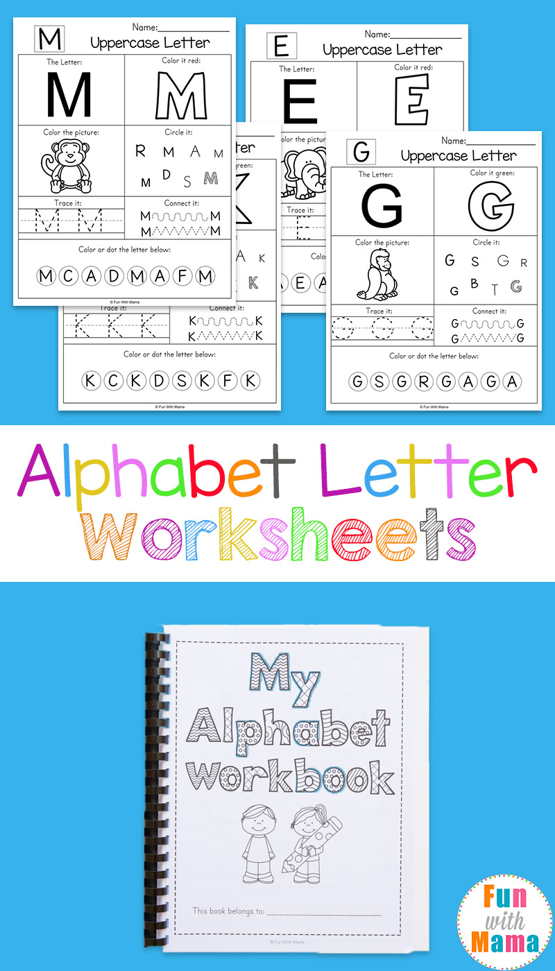 Alphabet Worksheets - Fun With Mama - Free Printable Alphabet Worksheets