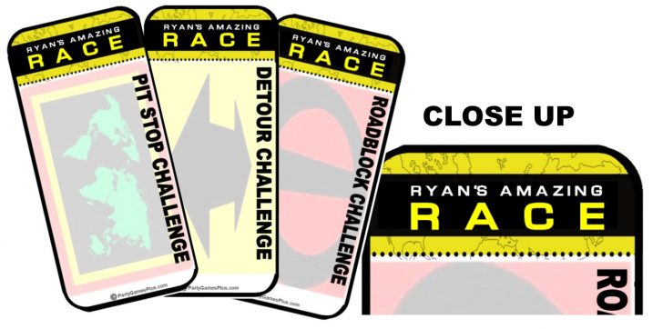 Free Printable Amazing Race Invitations