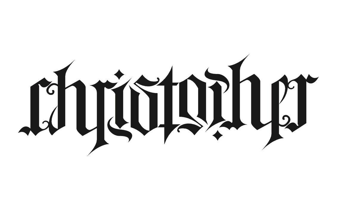 Ambigram - Christopher | Wordplay N' Ambigrams | Pinterest - Ambigram Generator Free Printable
