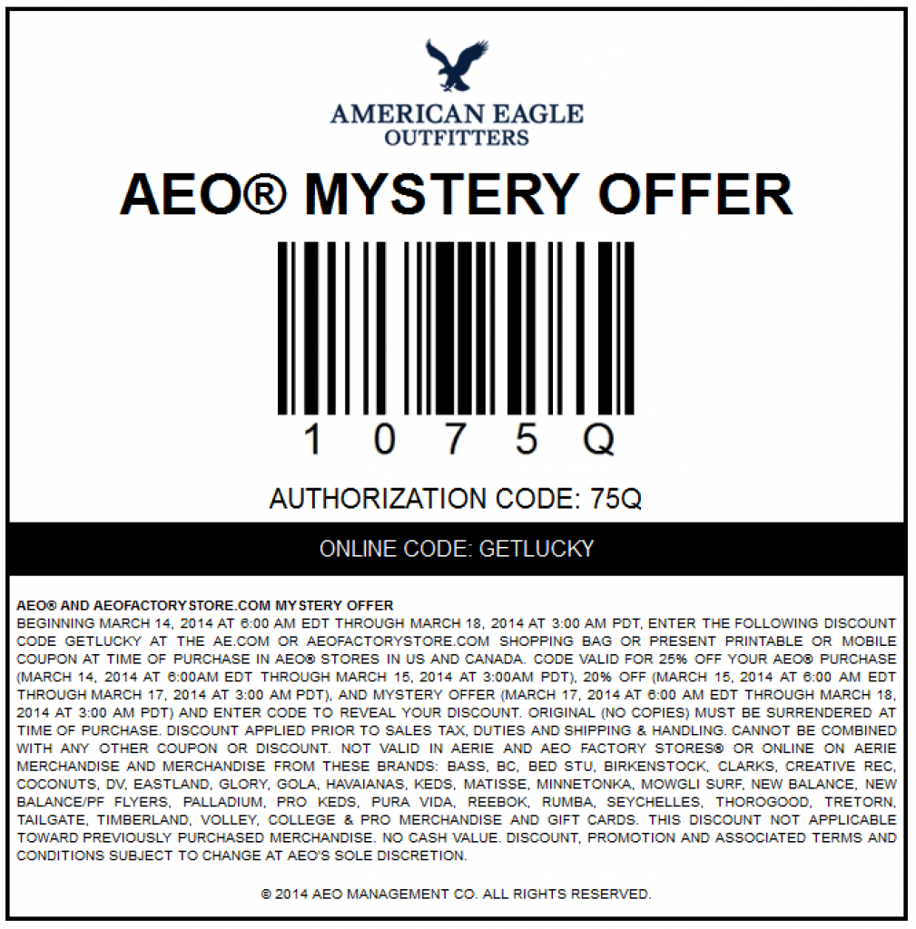 American Eagle Coupons 2015 (1) With Regard To Free Printable - Free Printable American Eagle Coupons